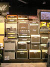 Every high school guitarists dream: to play in front  of a stack of Marshall amps!